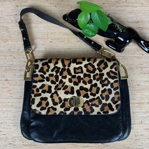 Badgley Mischka Coralie Calfhair Leopard Bag